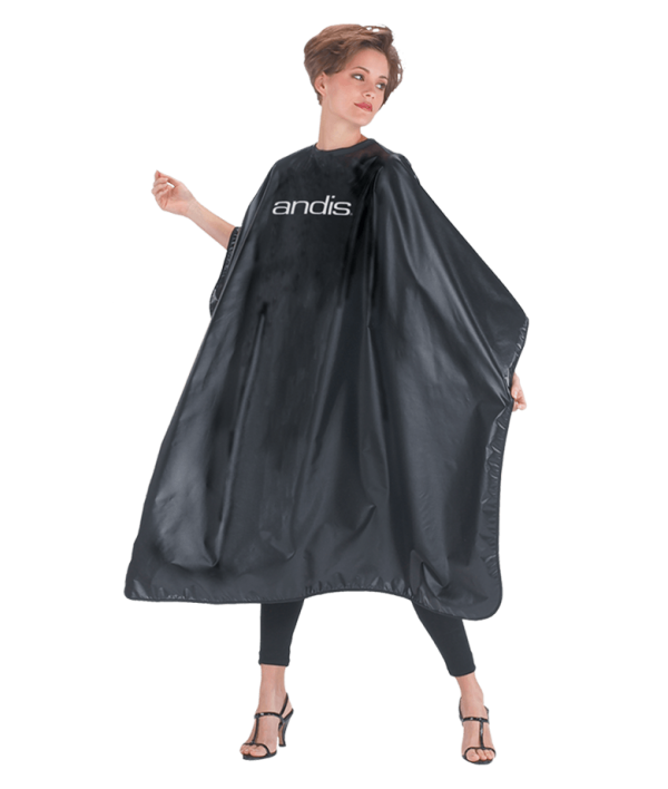 BLACK CAPE WITH ANDIS LOGO