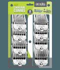 8 PC MAGNETIC CHROME COMB SET