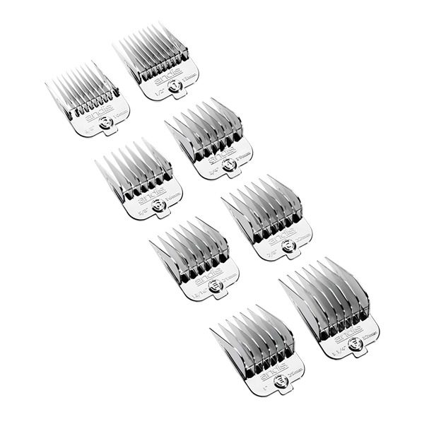 8-Piece Chrome Plated Magnetic Comb Set