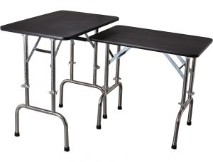 Height Adjustable Folding Table - L